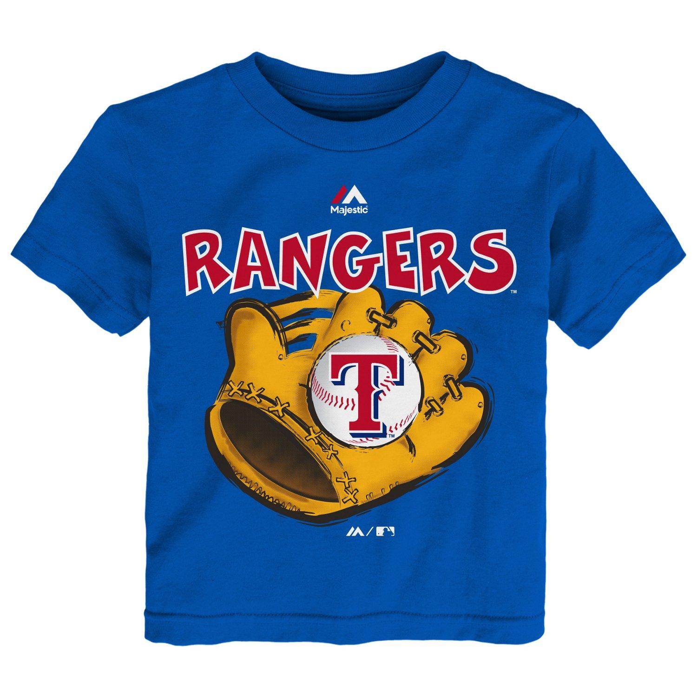 Majestic Boys' Texas Rangers Baseball Mitt Short Sleeve