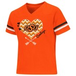 Colosseum Athletics Girls' Oklahoma State University Football Fan T-shirt