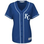 Majestic Women's Kansas City Royals Eric Hosmer #35 Cool Base Replica Jersey - view number 2