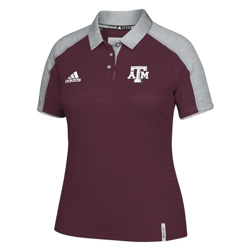 adidas™ Women's Texas A&M University NCAA Fall 2016 Sideline Polo Shirt