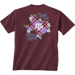 New World Graphics Women's Texas A&M University Bright Plaid T-shirt