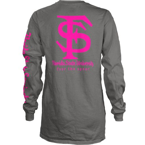 Three Squared Juniors' Florida State University Cynthia Pocketed Long Sleeve T-shirt