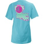 Three Squared Juniors' University of Louisiana at Lafayette Moonface Vee T-shirt