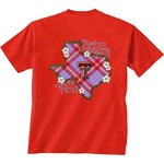 New World Graphics Women's Texas Tech University Bright Plaid T-shirt