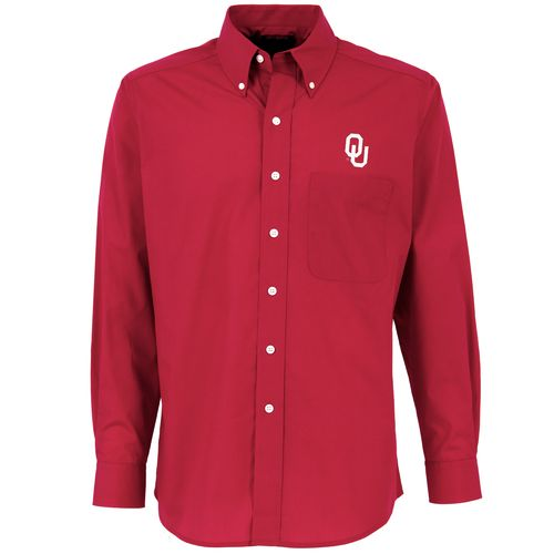 Antigua Men's University of Oklahoma Dynasty Dress Shirt