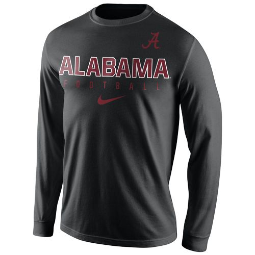 Nike™ Men's University of Alabama Practice Long Sleeve T-shirt