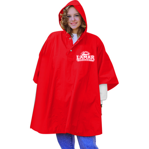 Storm Duds Adults' Lamar University Slicker Heavy Duty PVC Poncho