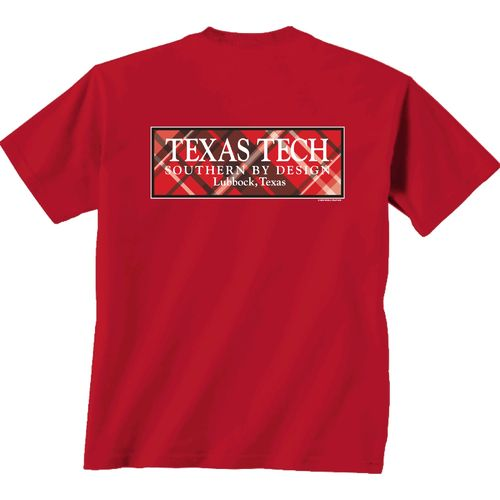 New World Graphics Women's Texas Tech University Madras T-shirt