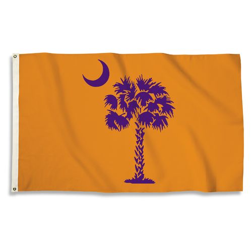BSI Clemson University 3'H x 5'W Palmetto Moon Flag