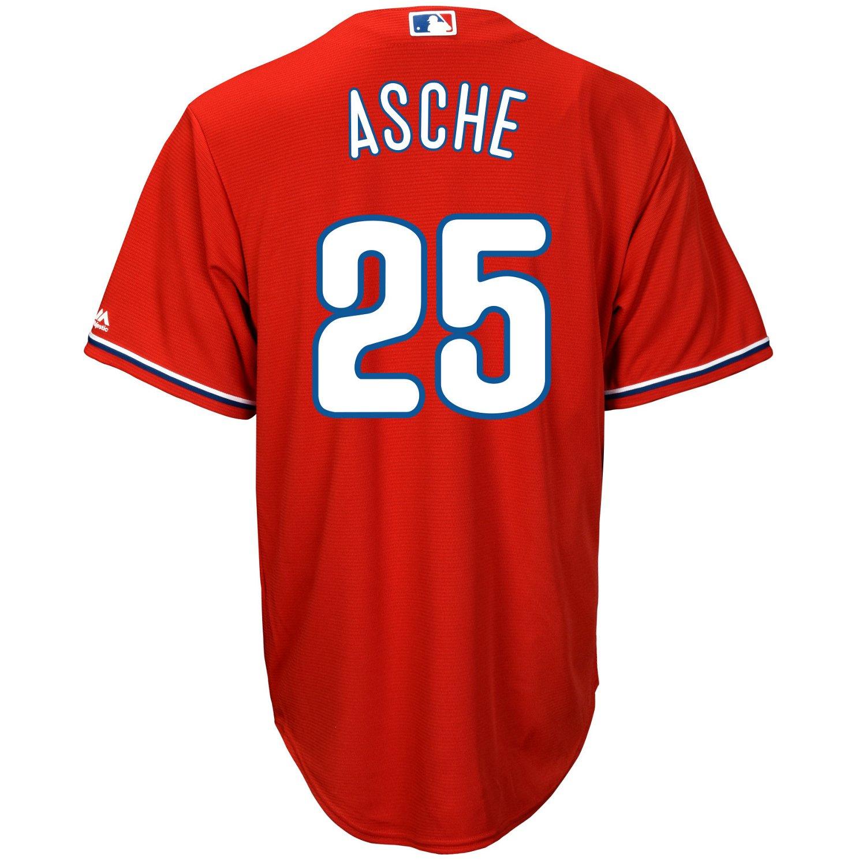 Majestic Men's Philadelphia Phillies Cody Asche #25 Cool Base Replica Jersey - view number 2