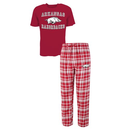 Concepts Sport™ Men's University of Arkansas Tiebreaker Shirt and Pant Set