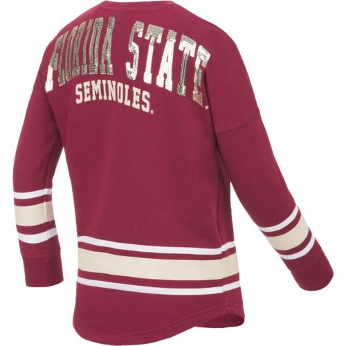 Colosseum Athletics™ Girls' Florida State University Boyfriend Varsity Pullover