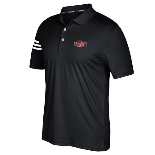adidas™ Men's Arkansas State University 3-Stripe Polo Shirt