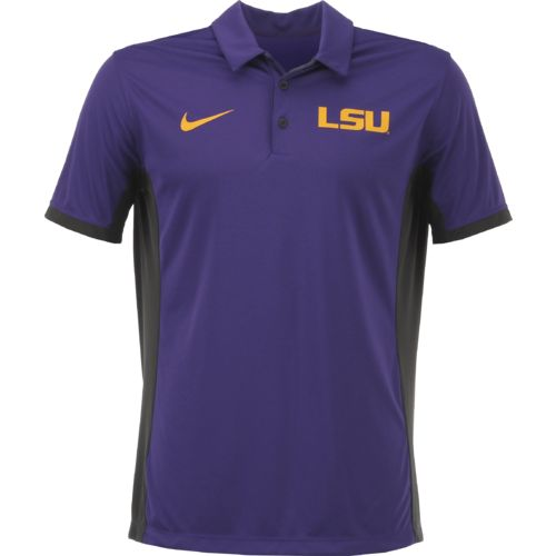 Nike Men's Louisiana State University Dri-FIT Evergreen Polo Shirt - view number 1