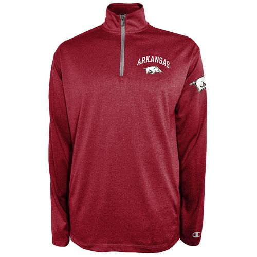 Champion™ Men's University of Arkansas Victory 1/4 Zip Pullover - view number 1