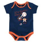 Majestic Infants' Houston Astros Home Run Onesies 3-Pack - view number 3