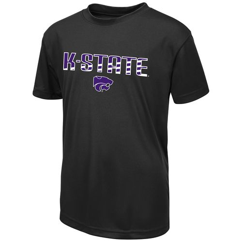 Colosseum Athletics Boys' Kansas State University Team Stripe T-shirt