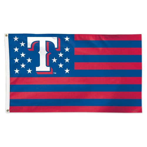 WinCraft Texas Rangers Stars and Stripes 3 ft x 5 ft Deluxe Flag - view number 1