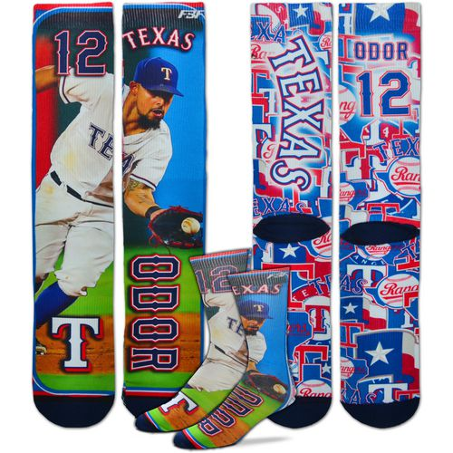 For Bare Feet Unisex Texas Rangers Rougned Odor Player Socks