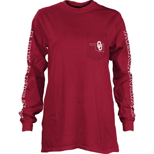 Three Squared Juniors' University of Oklahoma Mystic Long Sleeve T-shirt