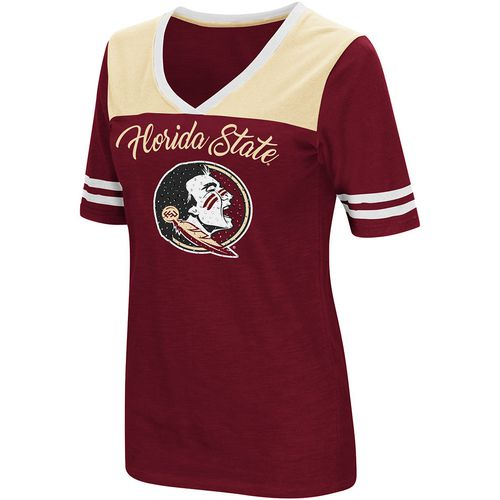 Colosseum Athletics Women's Florida State University Twist 2.1 V-Neck T-shirt