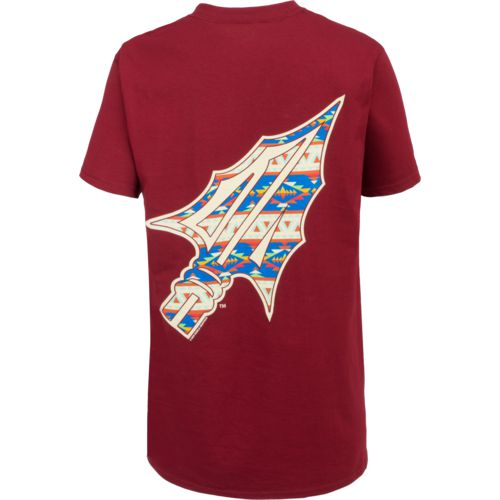 New World Graphics Women's Florida State University Logo Aztec T-shirt