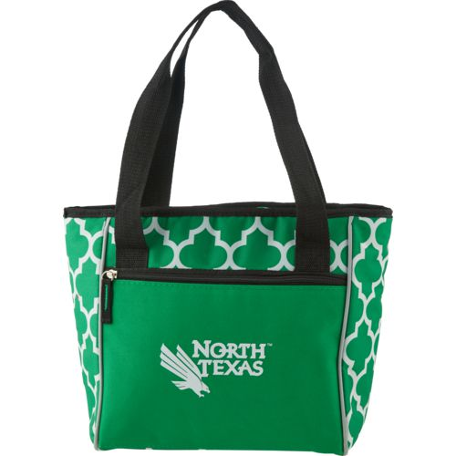 Logo University of North Texas Quatrefoil 16-Can Cooler Tote