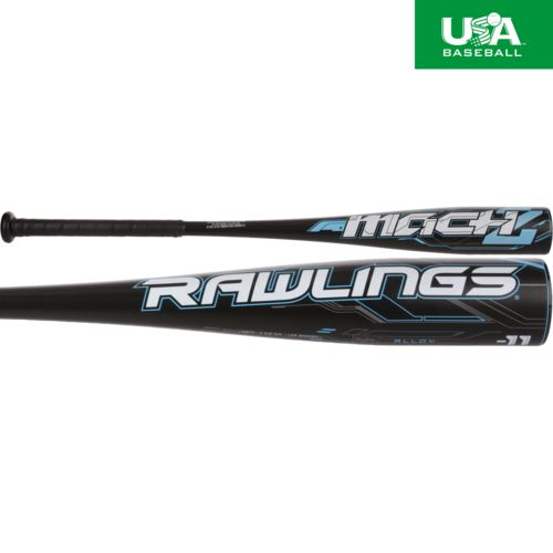 Rawlings Kids' MACH2 USA 2018 Little League Aluminum Alloy Baseball Bat -11