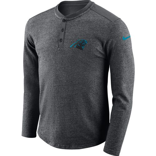 Nike Men's Carolina Panthers Seasonal Henley Long Sleeve T-shirt