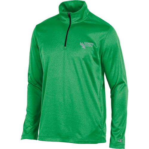 Champion Men's University of North Texas Victory 1/4 Zip Long Sleeve Pullover