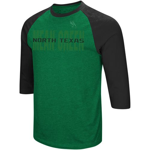 Colosseum Athletics Men's University of North Texas Steal Home 3/4 Length Sleeve T-shirt