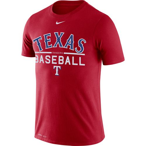 Nike Men's Texas Rangers Wordmark Practice T-shirt