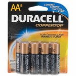 Duracell Coppertop AA Batteries 8-Pack
