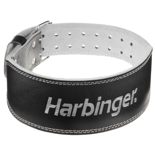 Harbinger 4' Padded Leather Weight Lifting Belt