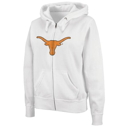 Colosseum Athletics Women's University of Texas Cozy Full Zip Fleece Hoodie