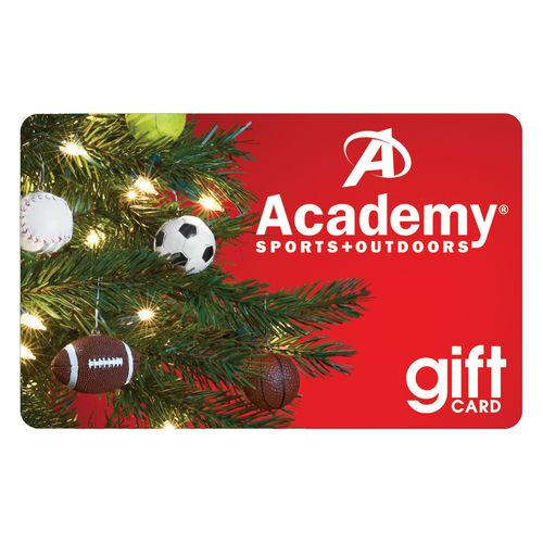 Academy Holiday Gift Card -Christmas Tree Design