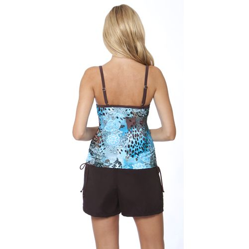 Magellan Outdoors Women's Hyde and Chic Side Shirred Tankini Top - view number 2