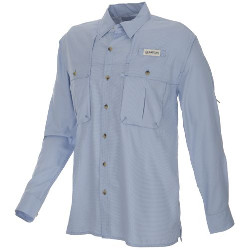 Image for Magellan Outdoors™ Men's Aransas Pass Mini Check Long Sleeve Fishing Shirt from Academy