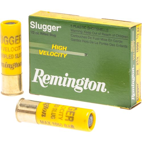 Remington Slugger High-Velocity Rifled Slug Loads 20 Gauge Shotshells