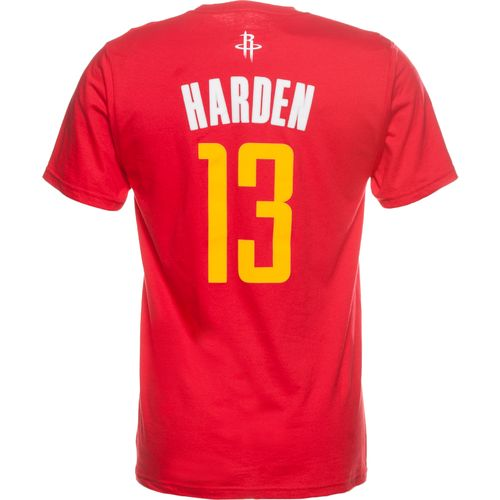 adidas™ Men's Houston Rockets James Harden #13 Short Sleeve T-shirt