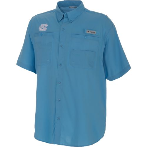 Columbia Sportswear Men's University of North Carolina Tamiami™ II Short Sleeve Shirt