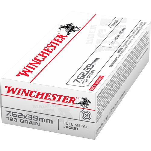 Winchester 7.62 x 39 mm Russian 123-Grain Full Metal Jacket Ammunition