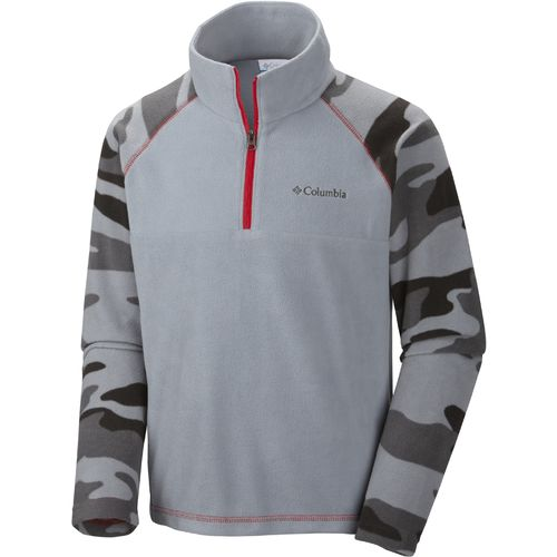 Columbia Sportswear Boys  Glacial  Print 1/2 Zip Pullover