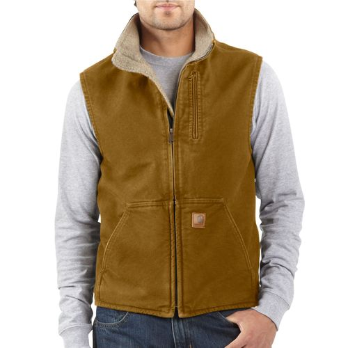 Carhartt Men's Sandstone Mock Neck Vest