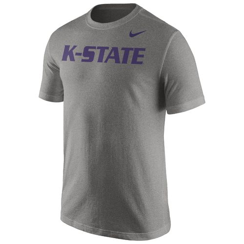 Nike™ Men's Kansas State University Cotton Short Sleeve Wordmark T-shirt