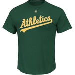 Majestic Men's Oakland Athletics Official Wordmark T-shirt - view number 1