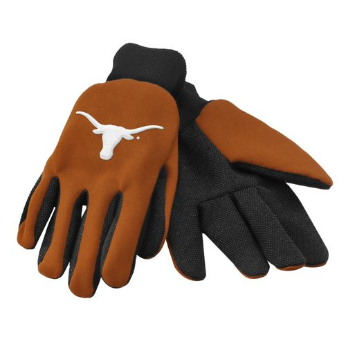 Team Beans Adults' University of Texas 2-Color Utility Gloves
