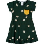 Chicka-d Toddler Girls' Baylor University Cap Sleeve Ruffle Dress
