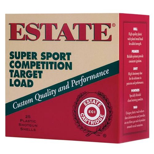 Estate Cartridge Super Sport Competition Target Load 12 Gauge 7 1/2 Shotshells 250-Round Case