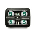 Team Golf Michigan State University 4-Ball Tin Gift Set